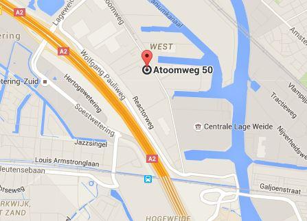 Google kaart - Atoomclub 50 Utrecht